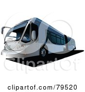 Royalty Free RF Clipart Illustration Of A Gray Modern City Bus by leonid