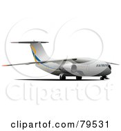 Royalty Free RF Clipart Illustration Of A Medium Sized Commercial Aircraft