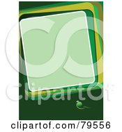 Royalty Free RF Clipart Illustration Of A Funky Green Text Box Background With A Green Sphere