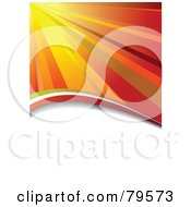 Royalty Free RF Clipart Illustration Of A Background Of Orange Rays Of Light Shining Down Over A White Text Space