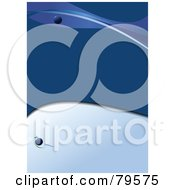 Royalty Free RF Clipart Illustration Of A Blue Background With Orbs And Waves