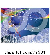 Royalty Free RF Clipart Illustration Of A Happy New Year Holiday Greeting With Baubles by leonid