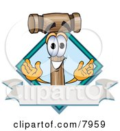 Mallet Mascot Cartoon Character With A Blank Label