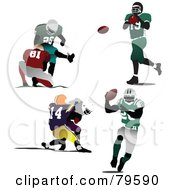 Royalty Free RF Clipart Illustration Of A Digital Collage Of Faceless American Football Players by leonid