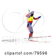 Royalty Free RF Clipart Illustration Of A Faceless Biathlon Skier Version 1 by leonid