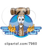 Clipart Picture Of A Mallet Mascot Cartoon Character Logo by Toons4Biz