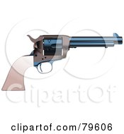 Royalty Free RF Clipart Illustration Of A Vintage Hand Pistol Gun Version 1
