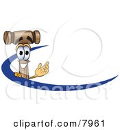 Clipart Picture Of A Mallet Mascot Cartoon Character Logo With A Blue Dash by Toons4Biz
