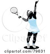 Royalty Free RF Clipart Illustration Of A Faceless Female Tennis Player Version 1