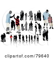 Royalty Free RF Clipart Illustration Of A Digital Collage Of Kids And Families by leonid #COLLC79640-0100