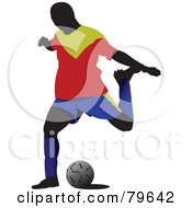Faceless Male Soccer Player Version 2 by leonid