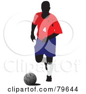 Faceless Male Soccer Player Version 3 by leonid