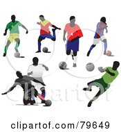Digital Collage Of Faceless Male Soccer Players Version 1 by leonid