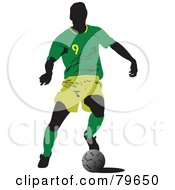 Faceless Male Soccer Player Version 1 by leonid