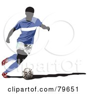 Running Faceless Male Soccer Player Version 1 by leonid