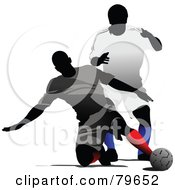 Two Faceless Male Soccer Players Version 1 by leonid