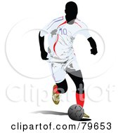 Running Faceless Male Soccer Player Version 2 by leonid