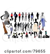 Royalty Free RF Clipart Illustration Of A Digital Collage Of Fashionable Casual And Business Women by leonid