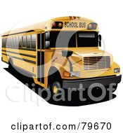 Royalty Free RF Clipart Illustration Of A Yellow School Bus With Black Tinted Windows by leonid #COLLC79670-0100