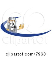 Clipart Picture Of A Pepper Shaker Mascot Cartoon Character With A Blue Dash