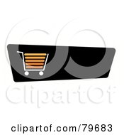 Royalty Free RF Clip Art Illustration Of An Orange Shopping Cart On A Black Checkout Website Button