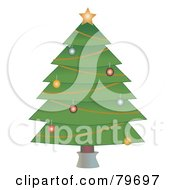 Trimmed Christmas Tree On A White Background