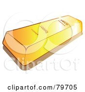 Royalty Free RF Stock Illustration Of A Shiny Gold Bullion Bar by Snowy
