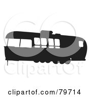 Royalty Free RF Clipart Illustration Of A Black And White Motorhome With Big Windows Version 2 by JR