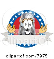 Clipart Picture Of A Pepper Shaker Mascot Cartoon Character With Stars And Blank Label by Toons4Biz