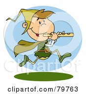 Royalty Free RF Clipart Illustration Of A Running Piper by Hit Toon