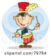 Royalty Free RF Clipart Illustration Of A Happy Drummer Drumming by Hit Toon