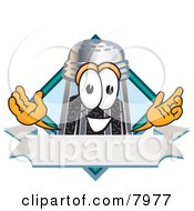 Clipart Picture Of A Pepper Shaker Mascot Cartoon Character With A Blank Label
