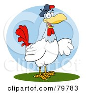 Royalty Free RF Clipart Illustration Of A French Hen Chicken by Hit Toon