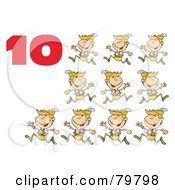 Royalty Free RF Clipart Illustration Of A Red Number Ten By Lords A Leaping