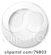 Royalty Free RF Clipart Illustration Of A White Large Round Dinner Plate by michaeltravers #COLLC79803-0111