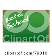 Royalty Free RF Clipart Illustration Of Back To School Written On A Green Chalk Board