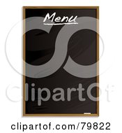 Royalty Free RF Clipart Illustration Of A Cleared Menu Blackboard