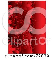 Royalty Free RF Clipart Illustration Of A Background Of Grungy Layered Red Blood Splatters by michaeltravers