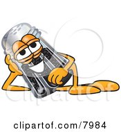 Clipart Picture Of A Pepper Shaker Mascot Cartoon Character Resting His Head On His Hand by Toons4Biz