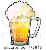Royalty Free RF Clipart Illustration Of A Mug Of Frothy Drought Beer by TA Images #COLLC79845-0125