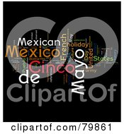 Royalty Free RF Stock Illustration Of A Collage Of Words Cinco De Mayo Version 2