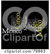 Royalty Free RF Stock Illustration Of A Collage Of Words Cinco De Mayo Version 4