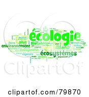 Royalty Free RF Stock Illustration Of A Collage Of Words Ecologie Version 2