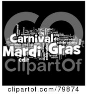Royalty Free RF Stock Illustration Of A Collage Of Words Mardi Gras Version 1 by MacX