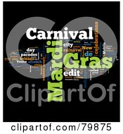 Royalty Free RF Stock Illustration Of A Collage Of Words Mardi Gras Version 2 by MacX