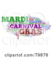 Royalty Free RF Stock Illustration Of A Collage Of Words Mardi Gras Version 3 by MacX
