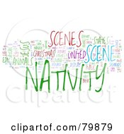 Royalty Free RF Stock Illustration Of A Collage Of Words Nativity Version 1