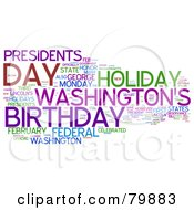 Royalty Free RF Stock Clip Art Of A Collage Of Words Presidents Day Version 3