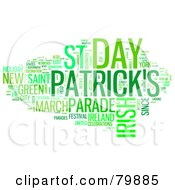 Collage Of Words St Patricks Day Version 1
