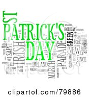 Collage Of Words St Patricks Day Version 2